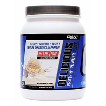 GIANT SPORTS Delicious Elite Protein Powder, Vanilla, 1.13 Pound