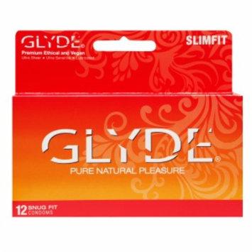 Glyde Premium Ethical and Vegan Condoms, SlimFit, 12 ea
