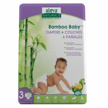 Aleva Naturals Bamboo Baby Diapers, Size 3 (13-24lbs) - 28ct