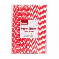 Ravishing Red Paper Straws, 24-Count