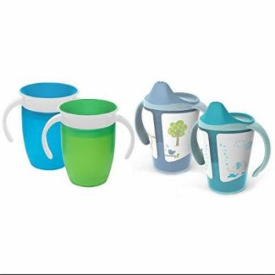 Born Free Grow with Me 6 Ounce Training Cups with Munchkin Miracle Cup Traine...