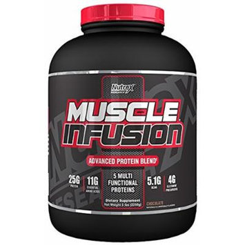 Nutrex Research Muscle Infusion Powder, Chocolate, 5 Pound