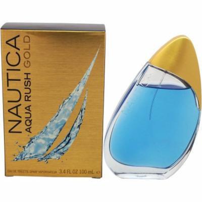 Nautica Aqua Rush Gold for Men Eau de Toilette Spray, 3.4 oz