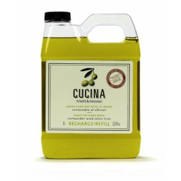 Cucina Purifying Hand Wash Refill, 33.8 Oz Plastic Jug (2, Coriander and Olive Tree)