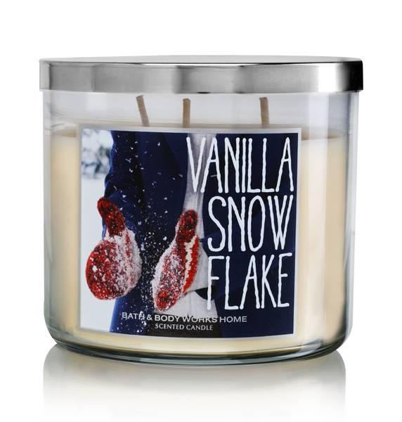 Slatkin & Co. Bath & Body Works Vanilla Snow Flake