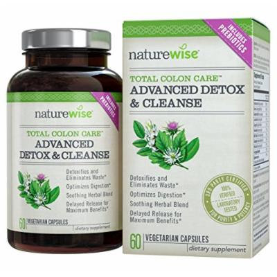 NatureWise Total Colon Care Advanced Detox and Cleanse with Digestive Enzymes for Health and Weight Loss Supplement, 60 Count