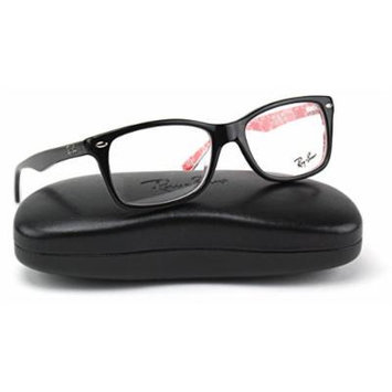 Ray-Ban RX5228 2479 Unisex Eyeglasses TOP BLACK ON TEXTURE RED Frame 50mm