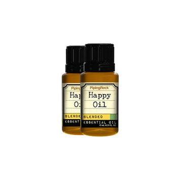 Happy Essential Oil 2 Dropper Bottles x 1/2 oz (15 ml)