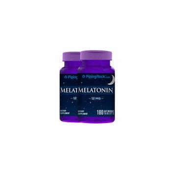 Melatonin 12 mg Fast Dissolve 2 Bottles x 180 Fast Dissolve Tablets