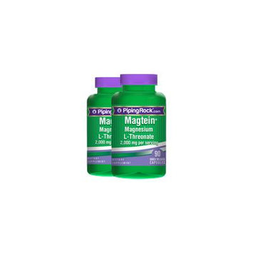 Magnesium L-Threonate Magtein 2 Bottles x 90 Capsules