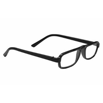 Dr. Dean Edell Plastic Black 1/2 Eye Rectangular and Case Reading Glass, +3.00