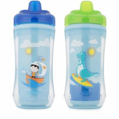 Dr. Brown's Hard-Spout Cup Boy Sailboat/Dino, BPA-Free, 10 oz, 2-pack (Stage 3, 12 Months and Up)