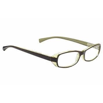 Wink Rectangular Reading Glass Case, Brown/Green/Apple Green, +1.75