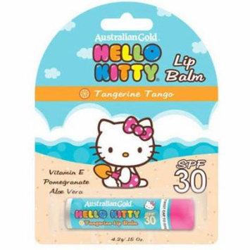 Australian Gold Hello Kitty Tangerine Tango Lip Balm, SPF 30, .15 oz