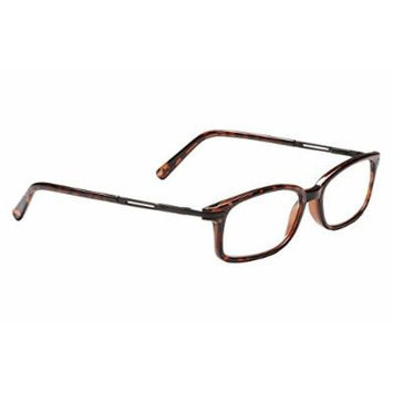 Dr. Dean Edell Tortoise Oval with Metal Trim On Temple Reading Glass with Case, +2.25
