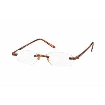 Wink ICU Tortoise Rimless Reading Glass with Red Case, +1.50