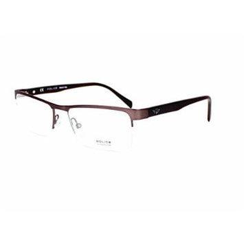Optical frame Police CRANE 2 Metal Brown (VPL131 0K03)