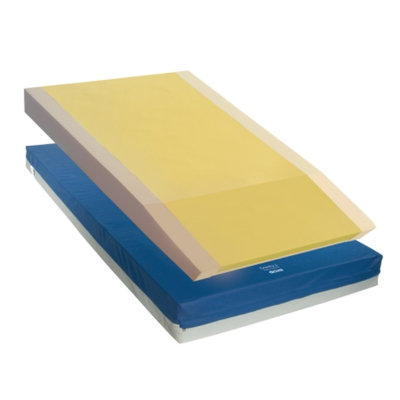Drive Medical Gravity 9 Long Term Care Pressure Redistribution Mattress w Elevated Perimeter, Blue, 76x36x6, 1 ea
