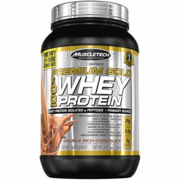 MuscleTech Premium Gold Double Rich Chocolate Whey Protein Dietary Supplement, 72 oz