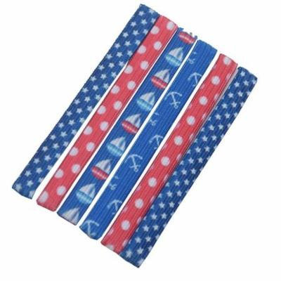 Knotties Girls Red Blue White Sailor Themed Dotted Ponytail Holder Set