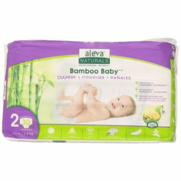 Aleva Naturals Bamboo Baby Diapers - Size 2 (6-17lb)