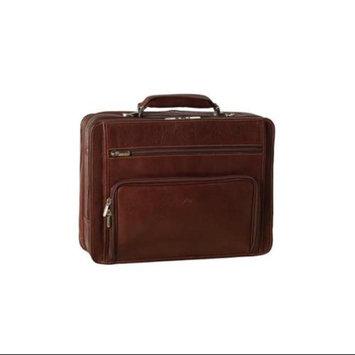 Tony Perotti Ultimo Leather Laptop Double-Pocket Zip Around Briefcase