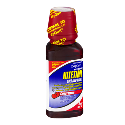 CareOne Multi-Symptom Nitetime Cold/Flu Relief Cherry