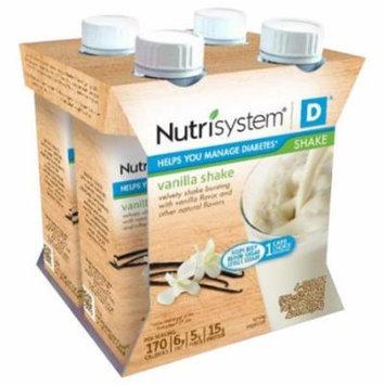 Nutrisystem D Vanilla Shakes, 10 fl oz, 4 count, (Pack of 6)