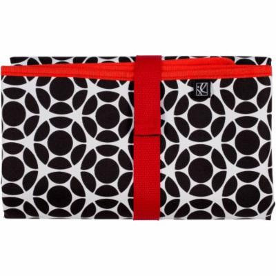 J.L. Childress Full Body Changing Pad, Black/Red Floral
