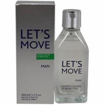 United Colors of Benetton Let's Move Man EDT Spray, 3.3 fl oz