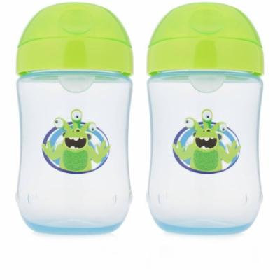 Dr. Brown's Soft-Spout Cup Blue Monster, BPA-Free, 9 oz, 2-pack Blue (Stage 2, 9 Months and Up)
