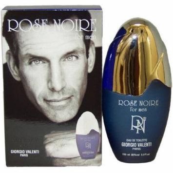 Giorgio Valenti Rose Noire Eau de Toilette Spray for Men, 3.3 fl oz