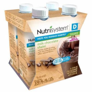 Nutrisystem D Milk Chocolate Shakes, 10 fl oz, 4 count, (Pack of 6)