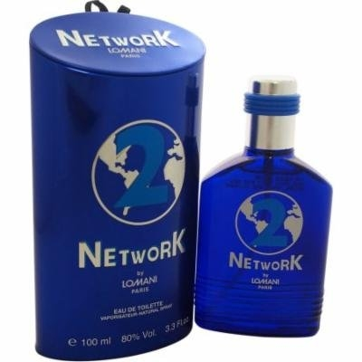 Lomani Network 2 Eau de Toilette Spray for Men, 3.3 fl oz