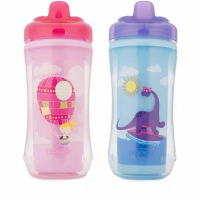Dr. Brown's Hard-Spout Cup Girl Balloon/Dino, BPA-Free, 10 oz, 2-pack (Stage 3, 12 Months and Up)