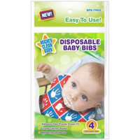 Mighty Clean Baby Disposable Baby Bibs, 24 Count