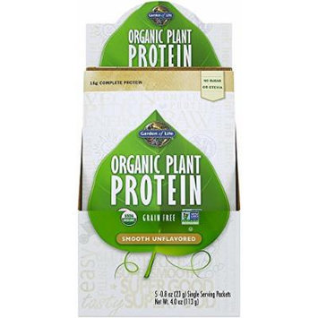 Garden of Life Organic Smooth Plant Protein, Natural, 5 Count