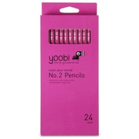 Yoobi 24ct No.2 Pencils - Pink