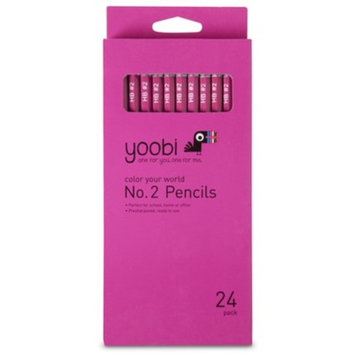 Yoobi 24ct No.2 Pencils - Pink