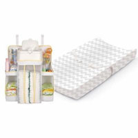 Summer Infant Contoured Changing Pad with Plush Cover & Nursery Organizer