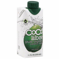 Coco Libre Pure Organic Coconut Water, 11 fl oz, (Pack of 6)