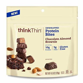 thinkThin Protein Bites, Chocolate Almond Brownie, 4.5 Ounce (Pack of 6)