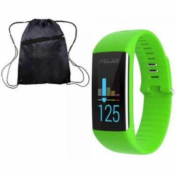 Polar A360 Fitness Monitor with Cinch Bag Green Medium