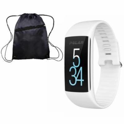 Polar A360 Fitness Monitor with Cinch Bag White Large
