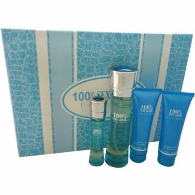100% Perfume Inc. 100% Sexy Lover Gift Set, 4 pc