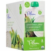 Plum Organics Stage 2 Green Bean, Pear & Greek Yogurt Organic Baby Food, 3.5 oz, 6 count, (Pack of 6)