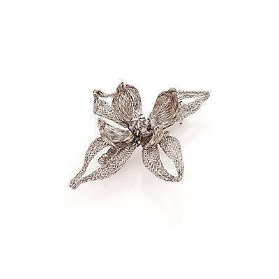 Colette Malouf Mesh Florette Barette - Silver