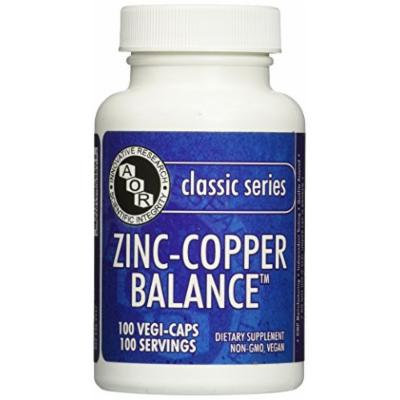 Advanced Orthomolecular Research AOR Zinc and Copper Balance Capsules, 100 Count