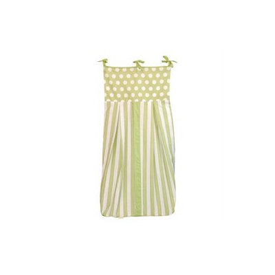 Tadpoles Dot/Stripe Diaper Stacker, Green