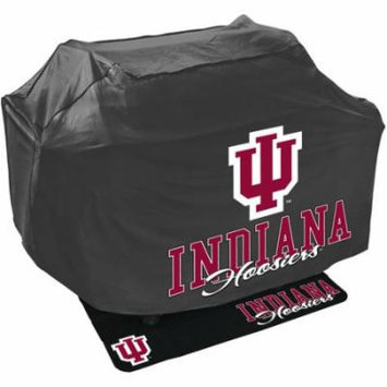 Mr. Bar-B-Q NCAA Grill Cover and Grill Mat Set, University of Indiana Hoosiers